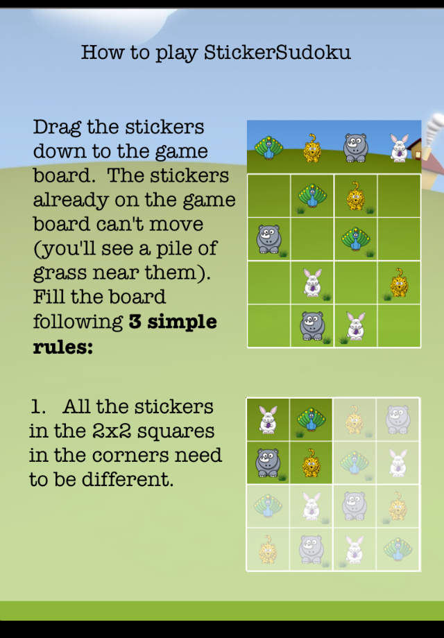 Screenshot StickerSudoku
